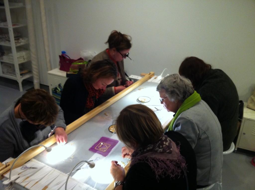 Concentratie bij het borduren