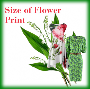 Size of Flower Print