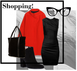 Shopping outfit with a LBD