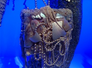 Handtas met parels en parelmoer, Jean Paul Gaultier