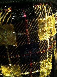 Schotse ruit in kralen en pailletten, Jean Paul Gaultier
