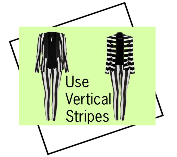 Vertical Stripes Create Length