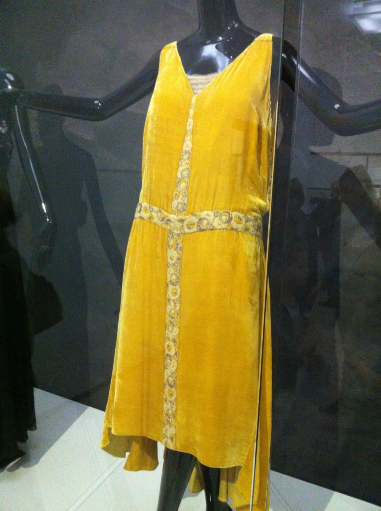 Gele jurk Chanel