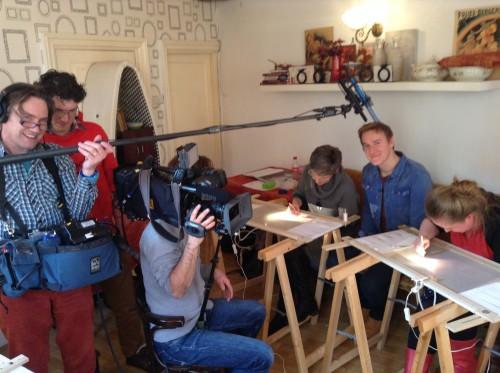 EO filmt tijdens cursusdag Opleiding Broderie d'Art