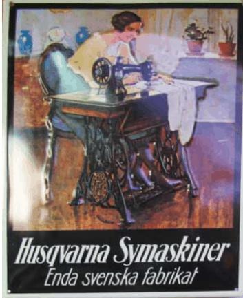 Reclamebord Husqvarna Naaimachine