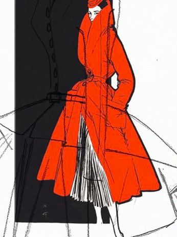 Rode jas Dior