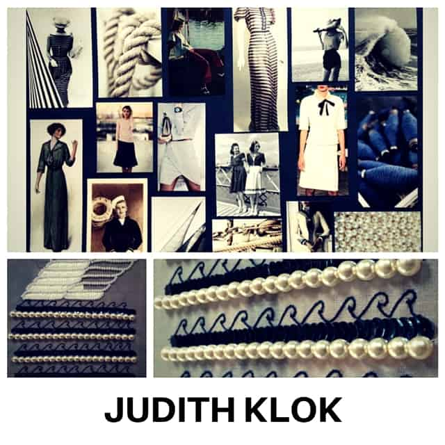 Judith Klok, summer challenge marine/ navy, broderie d'art
