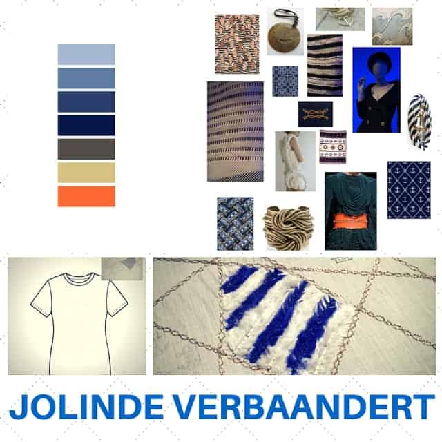 Jolinde Verbaandert, embroidery challenge 'Navy/ Marine'