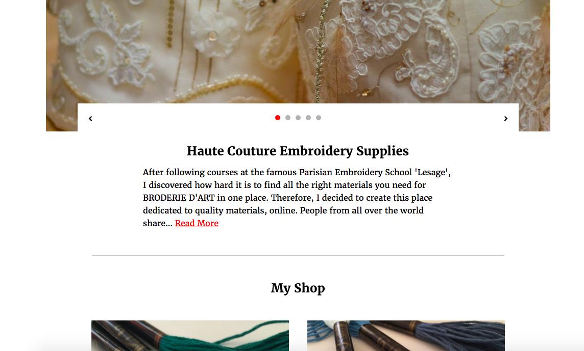 Pattern website borduurmaterialen