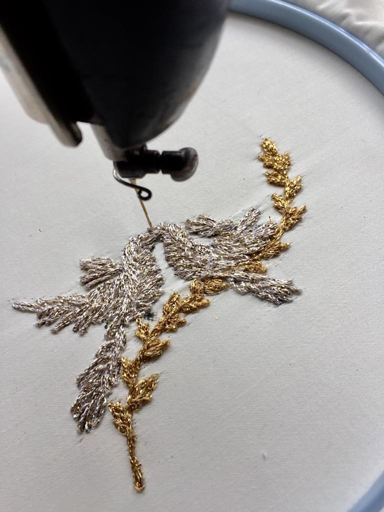 Vogeltjes bruidspaar in Al Aire techniek