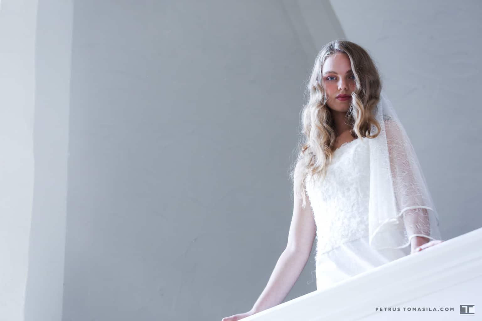 Bruidsjurk uitgevoerd met de borduurtechniek Al Aire